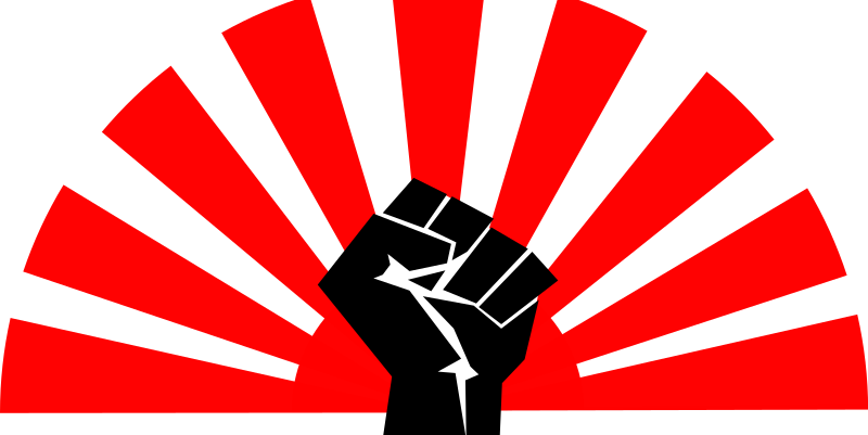 Flag Fist - New Version by j4p4n - Just like I said last time I uploaded a similar image: 'Not suppose to be pro-Japan or anti-Japan. It just is what it is.' It's not suppose to be political, it's just an image I can't get out of my head, and decided to make it into clipart. This site currently lets you only tag one image as the source of the remix. The fist comes from user 'worker'.