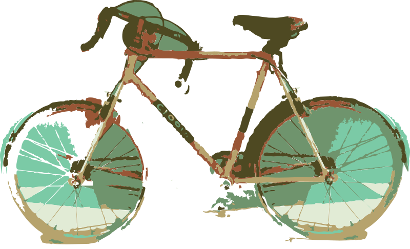 Bicycle Request by j4p4n - The original source was quite low quality, most of the bicycle was lost in shadow. Unless you want someone to draw this from zero, I don't know how people can provide much of any clipart for you? Maybe you should download inkscape and try to make it y