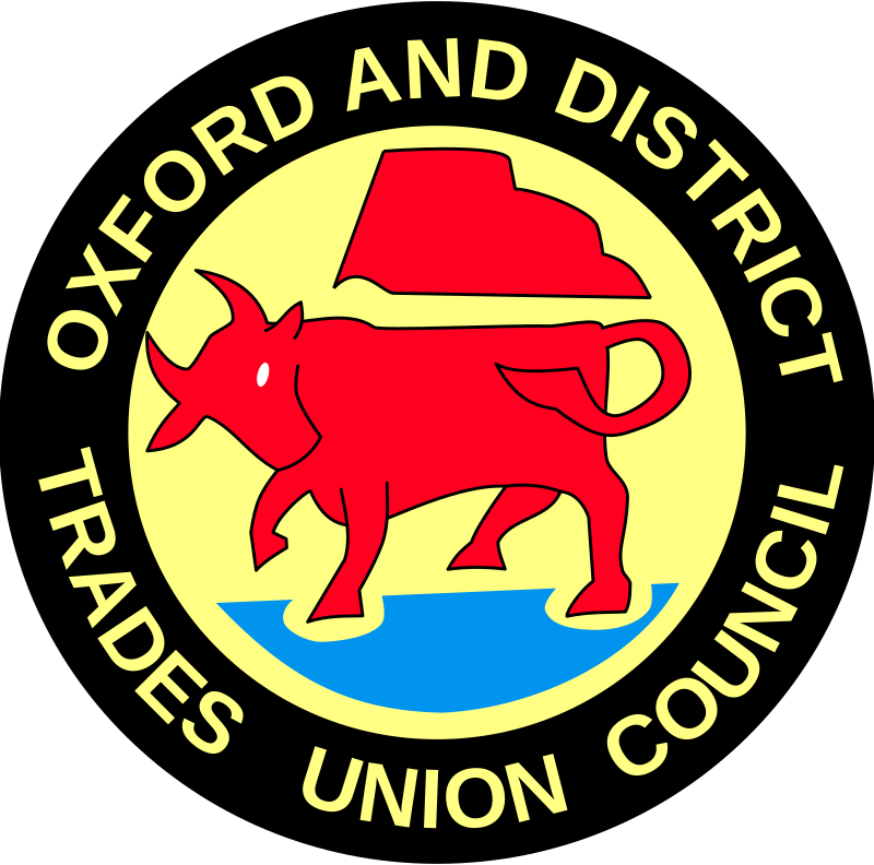 Oxford & District Trades Union Council by clagnar - Oxford & District Trades Union Council sign.