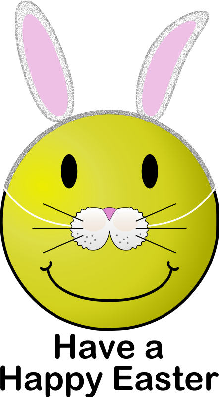 Easter Smiley by Arvin61r58 - Easter smiley with bunny mask