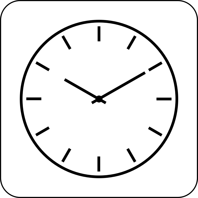 Clock Icon By Cinemacookie Simple Black And White