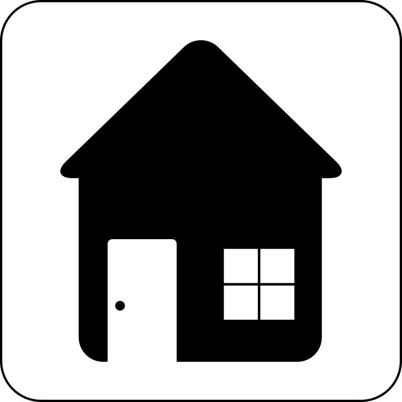 House Icon by cinemacookie - Simple black and white house icon. With a round edged box with white fill to create contrast. This icon can be seen in front of any image or backdrop because of it's design.