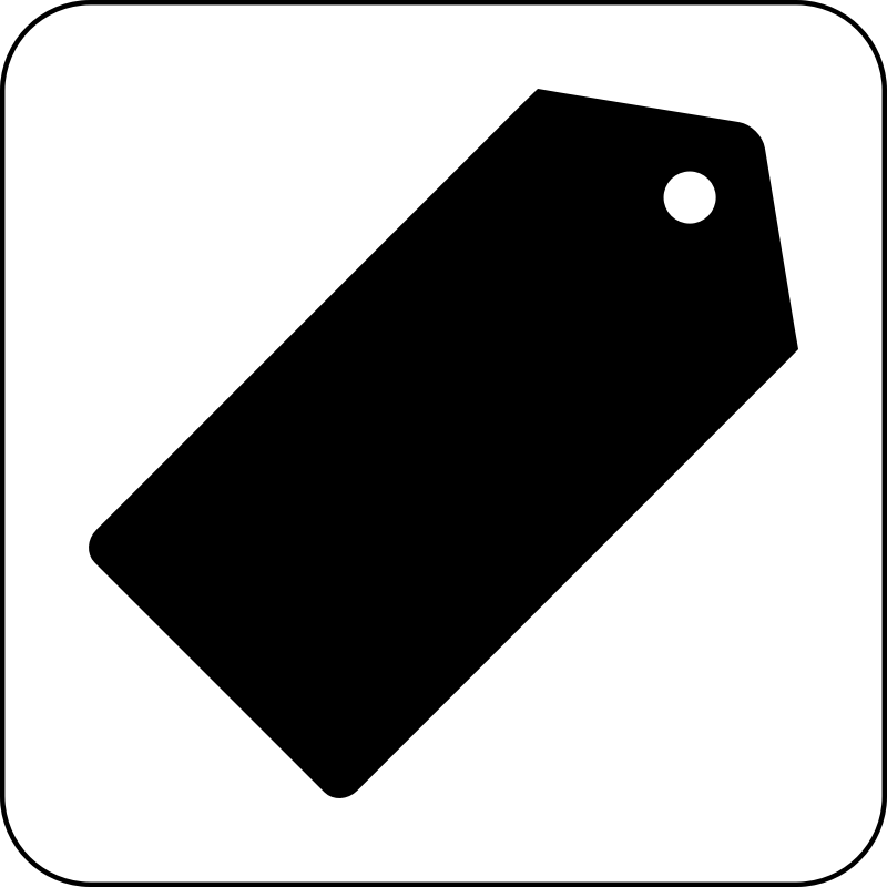 Shopping Icon by cinemacookie - Simple black and white shopping icon. With a round edged box with white fill to create contrast. This icon can be seen in front of any image or backdrop because of it's design.