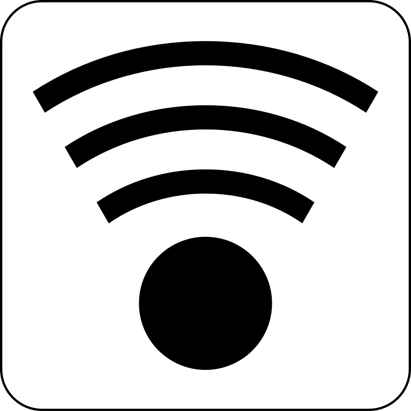 Wifi Icon by cinemacookie - Simple black and white wireless icon. With a round edged box with white fill to create contrast. This icon can be seen in front of any image or backdrop because of it's design.