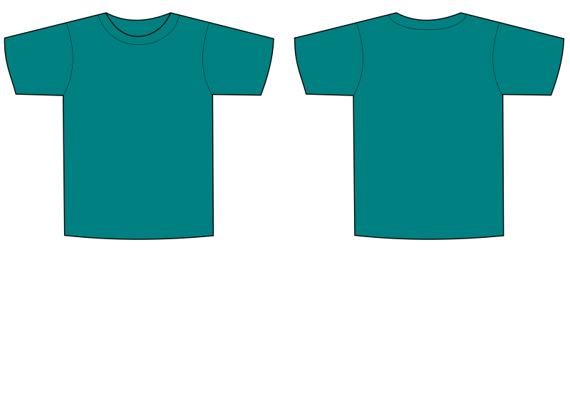 T shirt png template