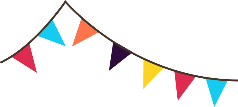 Bunting banner flags by spacefem - Flags for use in celebrations.