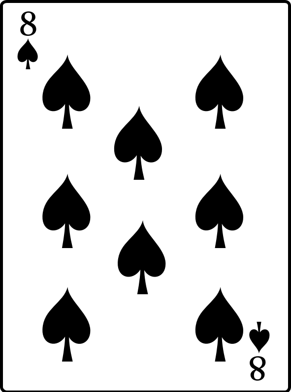 8 of Spades by casino - 8 of Spades