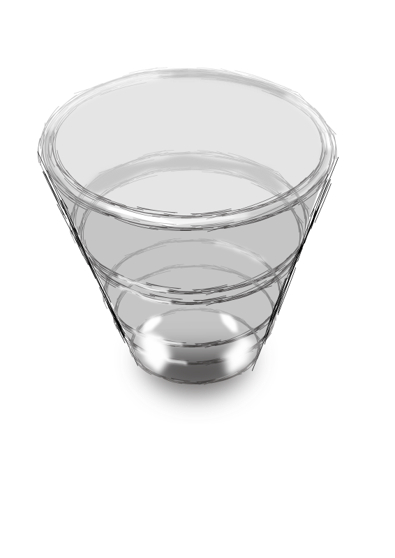 "Glass by gubrww2 - glass, requested by wanglizhong from photo by rejon. Used Inkscape ""sketch"" path effect."