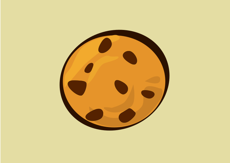 cookie by estitic - A clipart of a cookie.