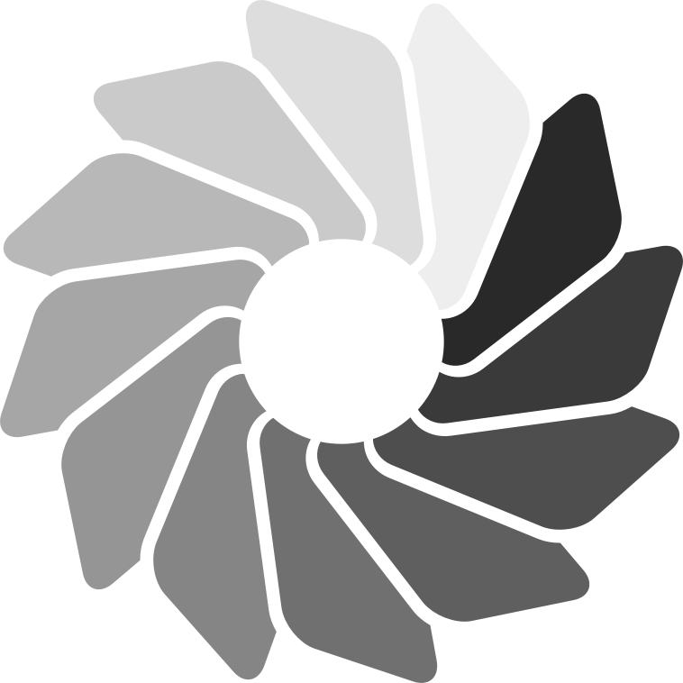 Loading Wheel (Transparent) by CodeAndReload - Derivative of cinemacookie's Loading Wheel. Each blade is now one step in transparency.