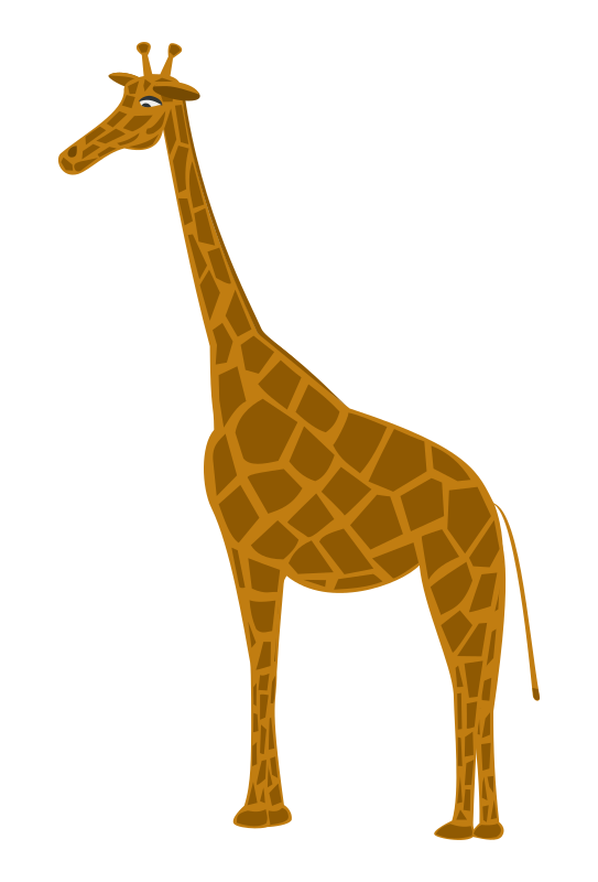 Giraffa by inkscaper - Clipart of a giraffe.
