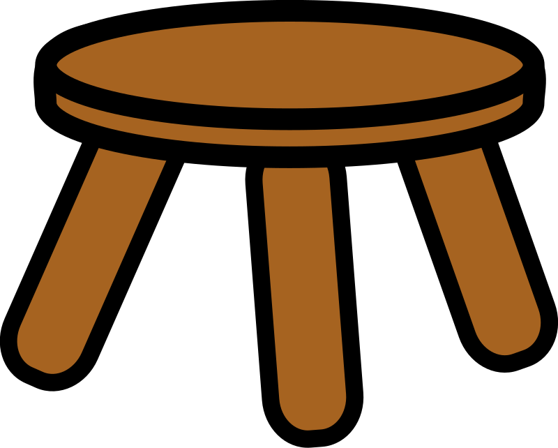 wooden stool by dear_theophilus - A wooden stool.