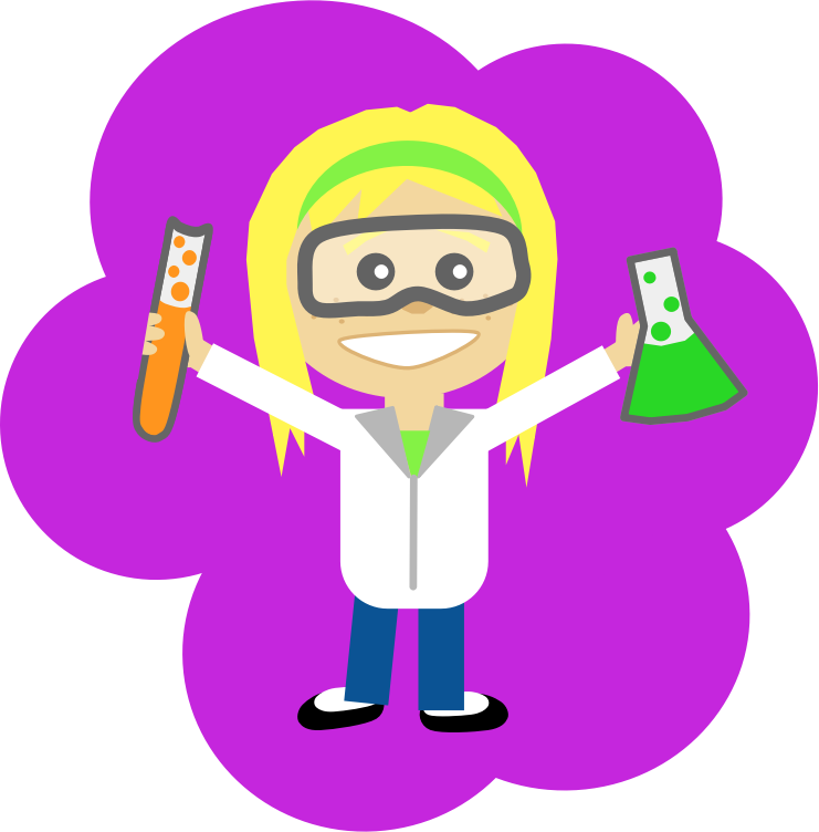 Science Girl by Scout - A science girl.