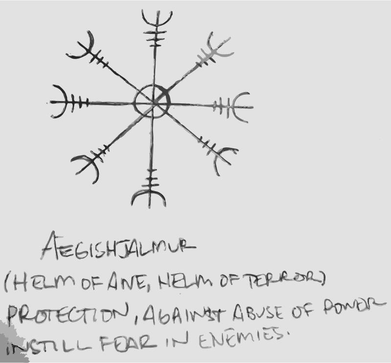Ægishjálmur by dnodnodno - Helm of awe (or helm of terror); to induce fear and to protect against abuse of power.