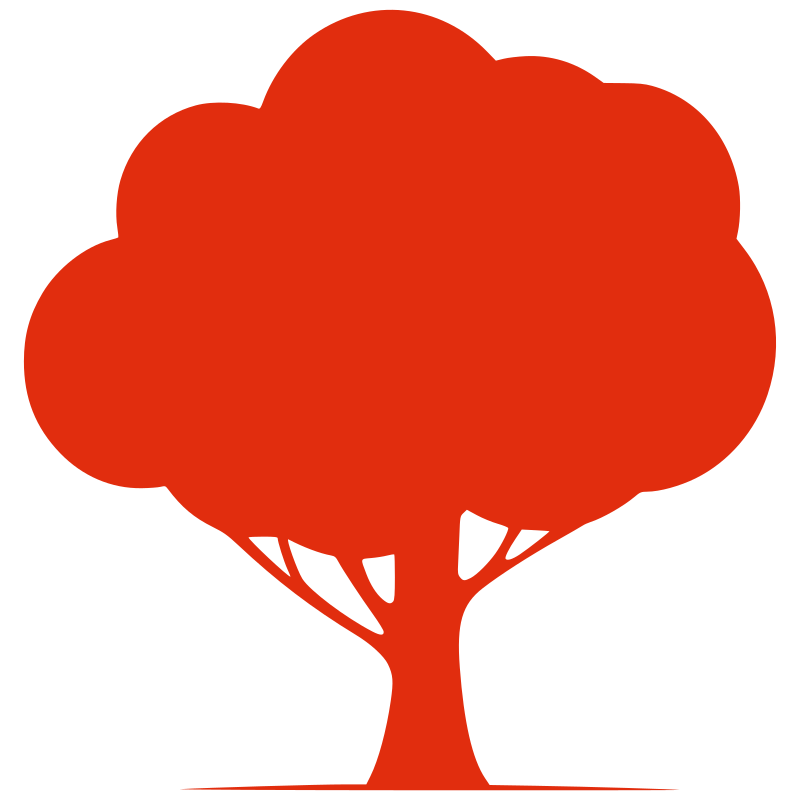 Silhouette Tree by ben - A red silhouette of a tree.