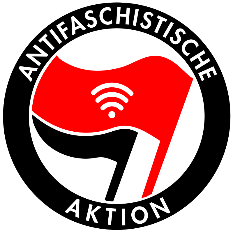 Antifa WiFi by realramnit - Antifa flags with wifi sign