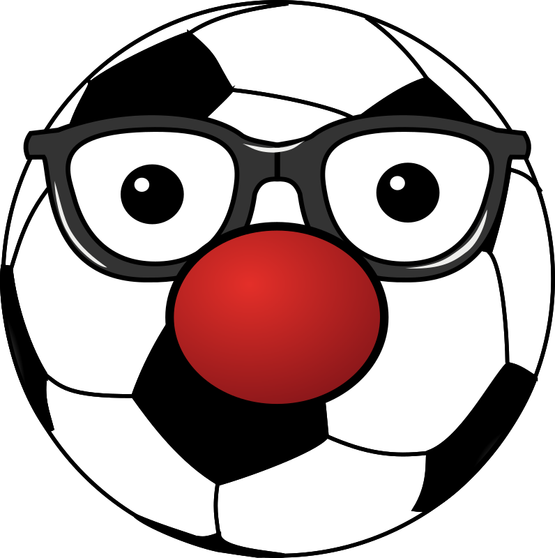 Clipart - Clowny soccer ball