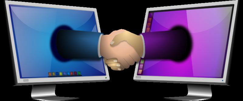 Handshake via monitors image