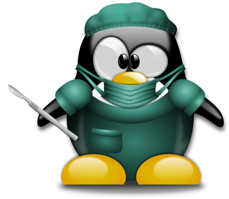 Clipart - Surgeon Tux 1