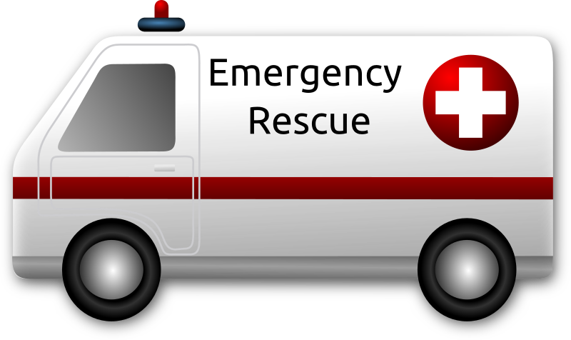 Clipart - Emergency Rescue Ambulance