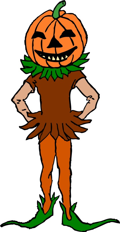 Pumpkin Boy Color Version by Gerald_G - Just added colour to the image.