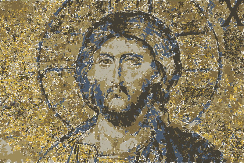 Hagia Sophia mosaic Christ  Jesus by wanglizhong - This public domain image comes from http://www.greenprophet.com/2014/02/this-is-what-jesus-christs-selfie-would-look-like/ and as of 2014-04-20 03:55:31 is this file, http://www.greenprophet.com/wp-content/uploads/Hagia-Sophia-mosaic-Christ.jpg. .greenprophet.com