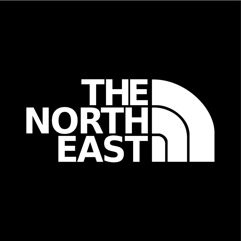 The North East by JArt - A reworked version of The North Face logo to say 'The North East'. A great sticker or background for those of us from the North East of England, or proud North Easterns of anywhere really.