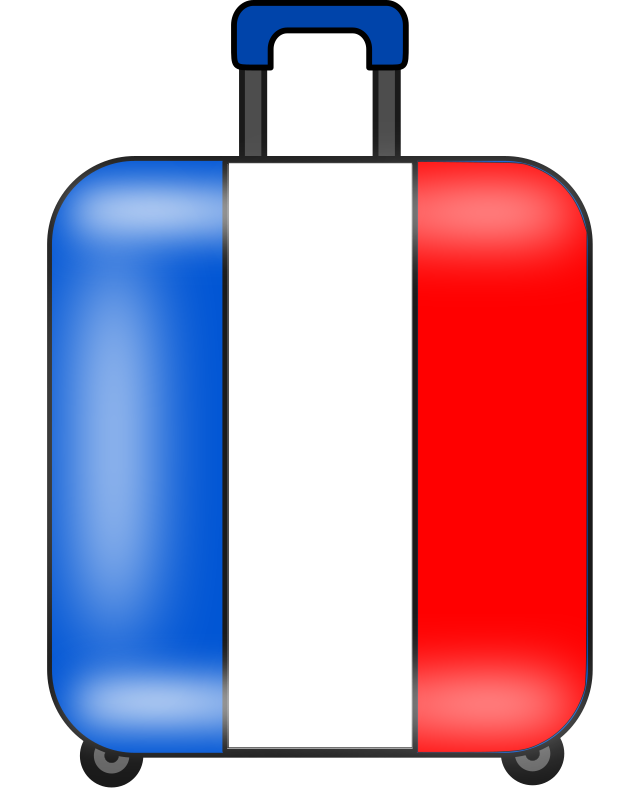 clipart maleta suitcase valise french flag clipart french flag clipart