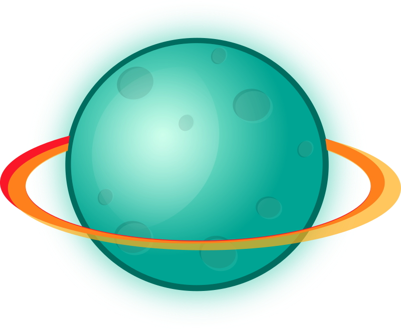 Planet with rings by Magnesus - A green/blue planet for a map for my Arkanoid inspired game BRIK.  If you like this clipart, please share link to this game:    https://play.google.com/store/apps/details?id=magory.brick    - on your Facebook/Twitter or just with your friends. Thanks.