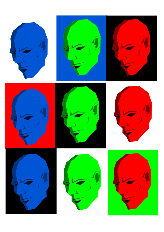 Simple face in different colors by kolbasun