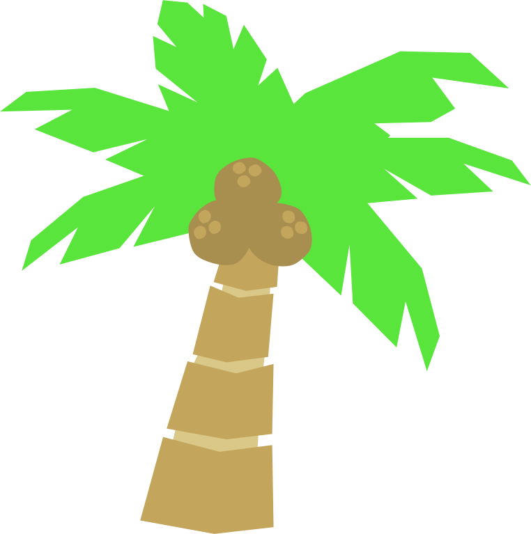 Palm Tree by Scout - A clip art of a palm tree.