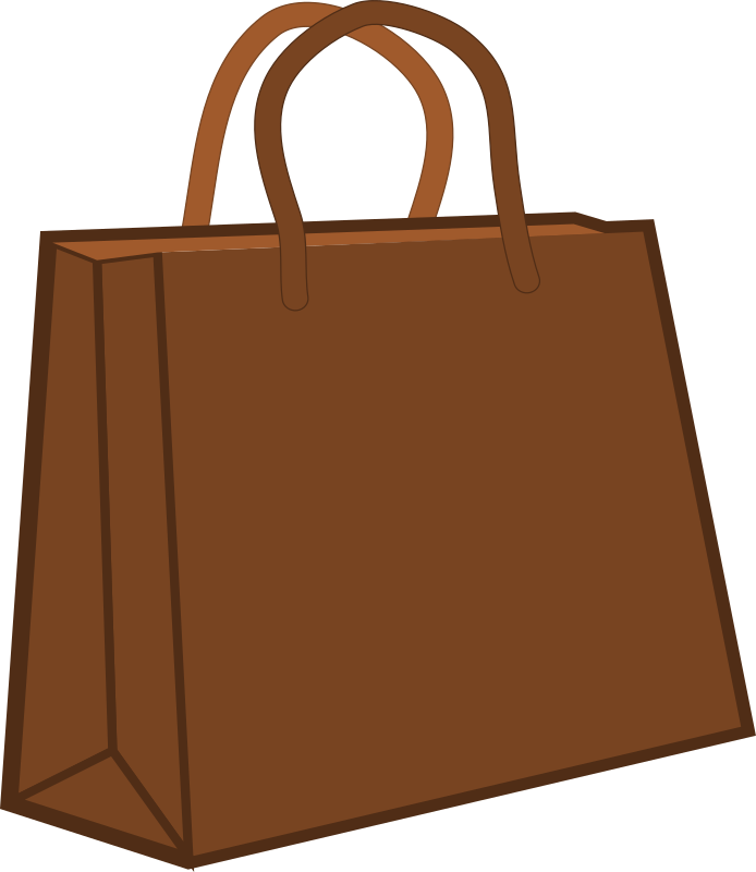 Paper shopping bag by Woofer - Brown paper shopping bag. Original recycle bag image from freepik.com (blank-kraft-paper-bags-vector).