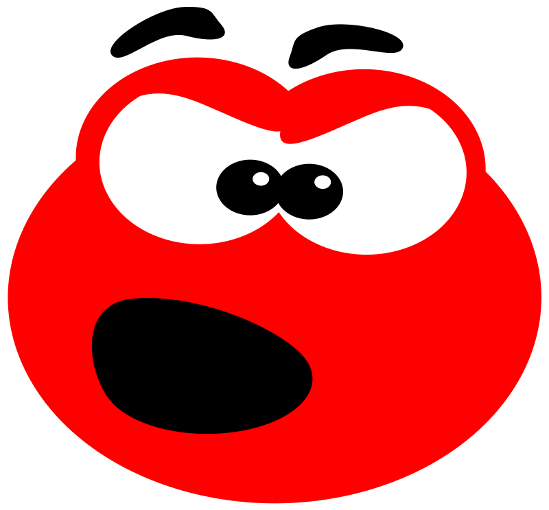 Blob angry by svk-ab - An angry little Blob. Made with Inkscape after reading a tutorial on 2DGameArtForProgrammers