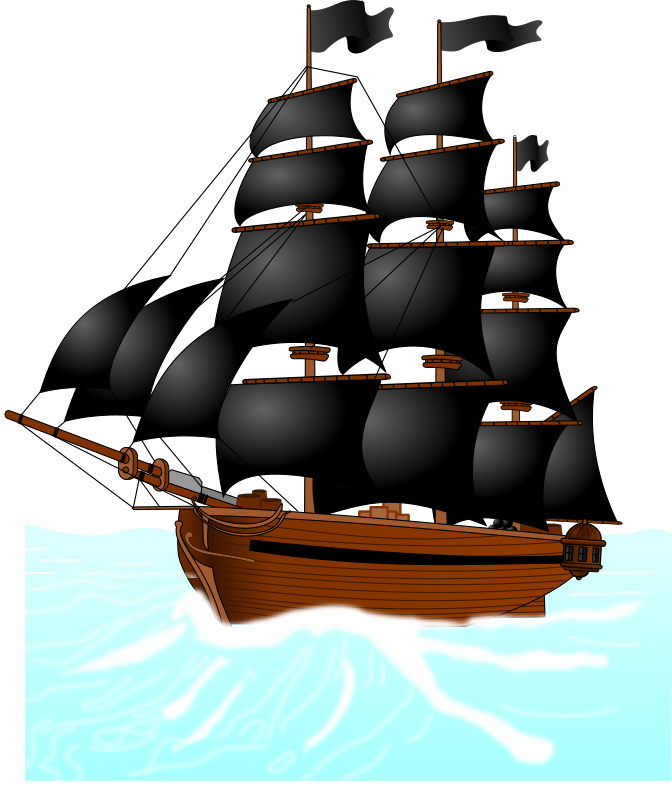 Pirate's Boat - Navire Pirate by cyberscooty