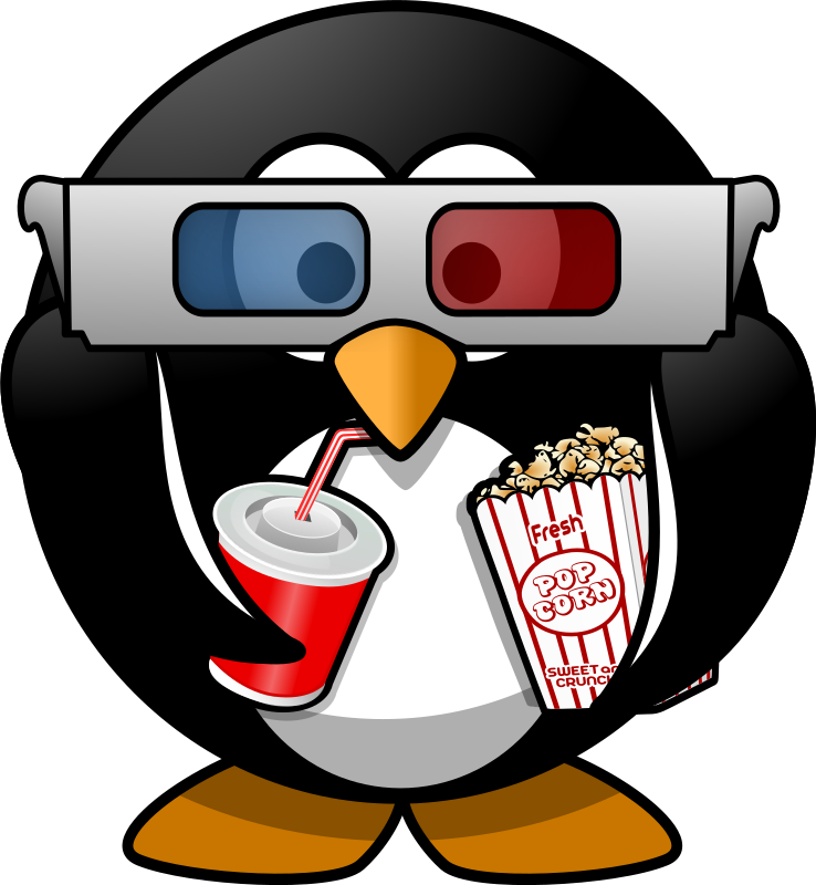 Cinema penguin by Moini