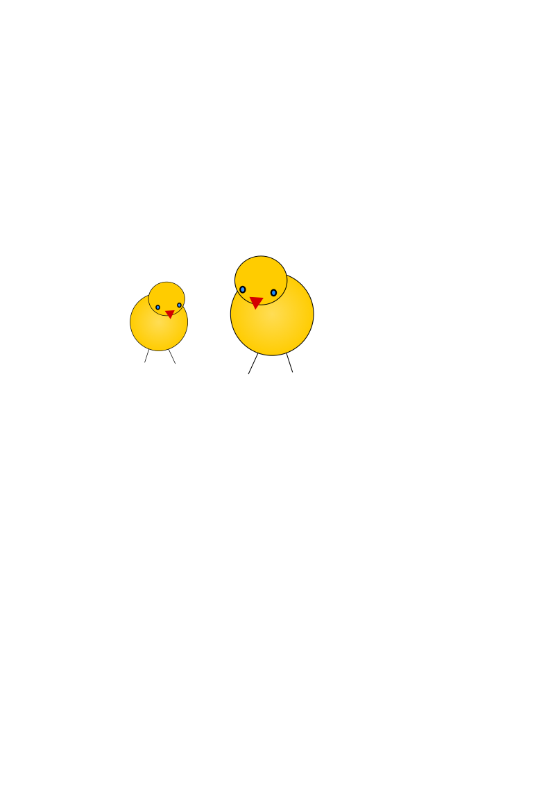chicks by 28victorydesign - Two cute chickens -  easter maskot