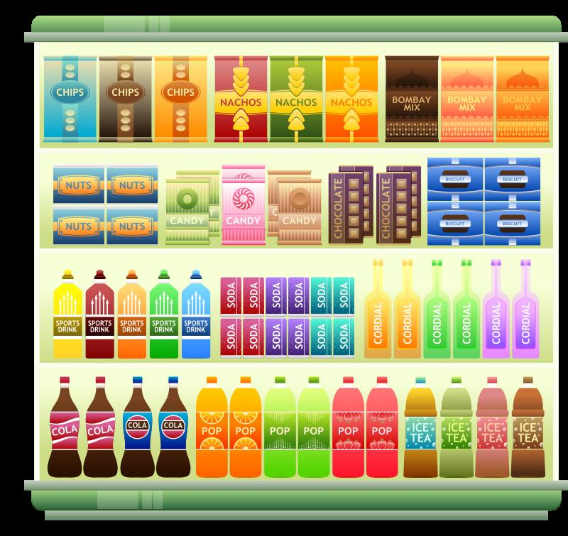 Supermarket Shelf 05 Clipart - Supermarket Goods Shelf 3
