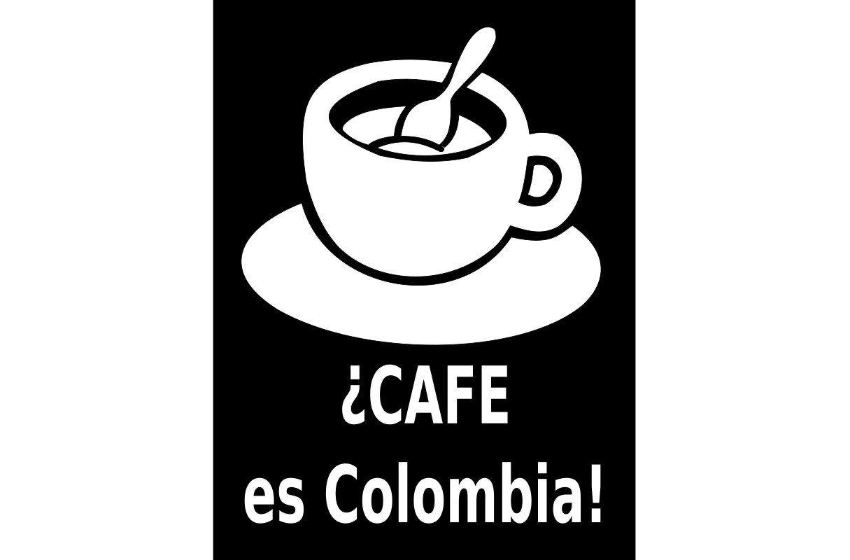 CAFE es Colombia by judavaqui - cup of coffee with text title