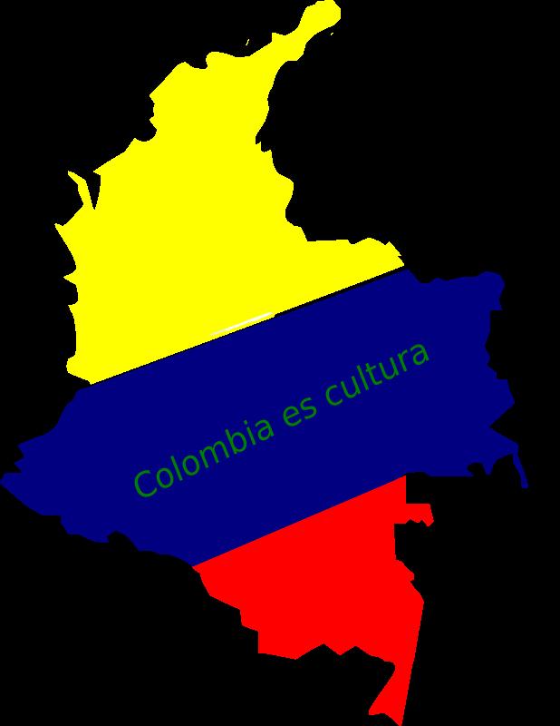Clipart - mapa de colombia