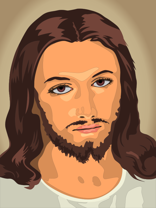 Jesus Christ by gustavorezende - Version of the original image, traced by hand.