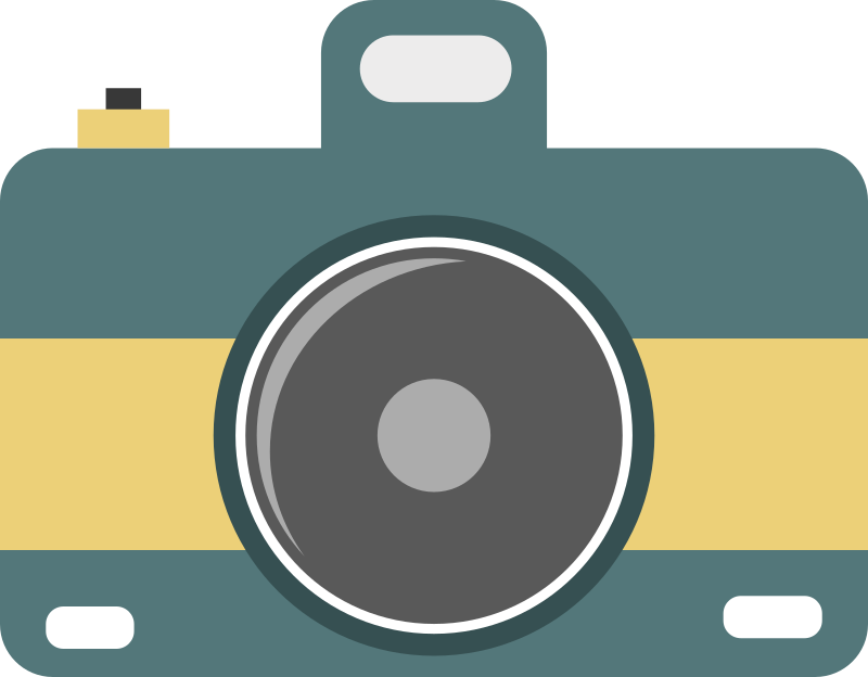 Flat camera by dk80 - A flat icon of a camera