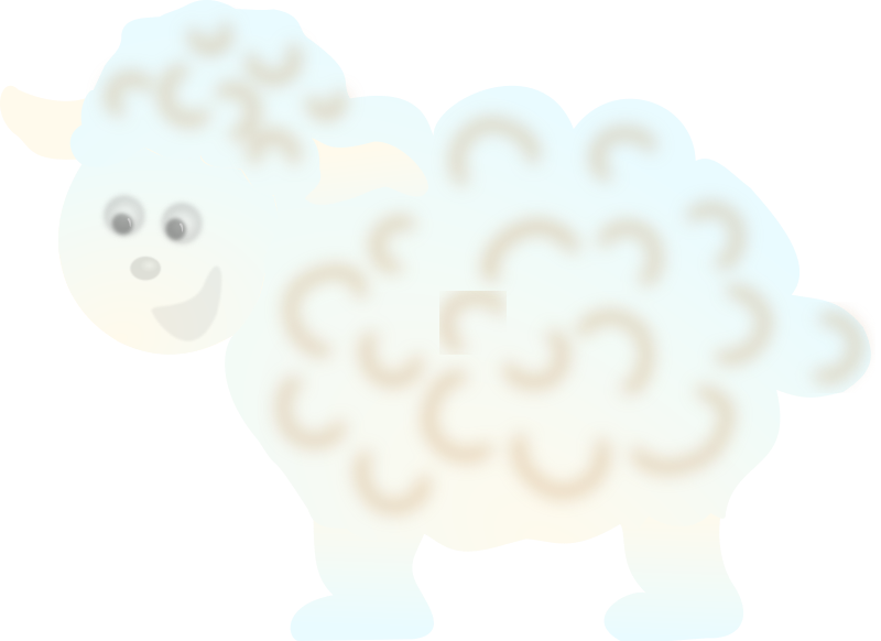 Clipart - sheep cloud