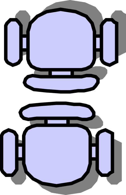 Classroom seat layouts by jabela - Quick and easy clipart to describe common seating arrangements in classrooms.
