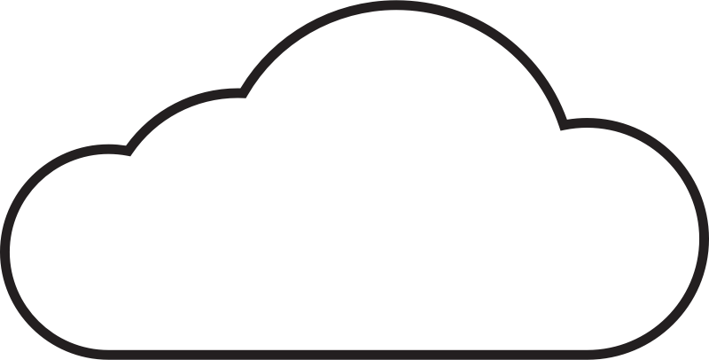 Cloud by cinemacookie - A Black and white cloud icon, it can be seen on any background because of it's design.