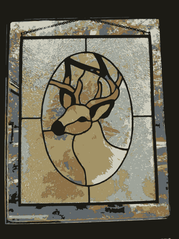 REQUEST: Deer Stained Glass by wanglizhong - A found stained glass image of a deer. I neee help to recreate and to extract the deer out. Any help?
