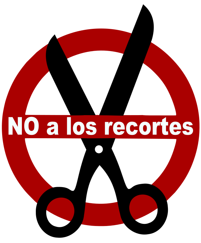 no a los recortes by fofo - sign: don't cut (?)
