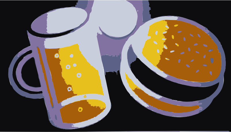 REQUEST: Beer and Hamburger by wanglizhong - A beer and hamburger that need cleanup. I need help to separate these.
