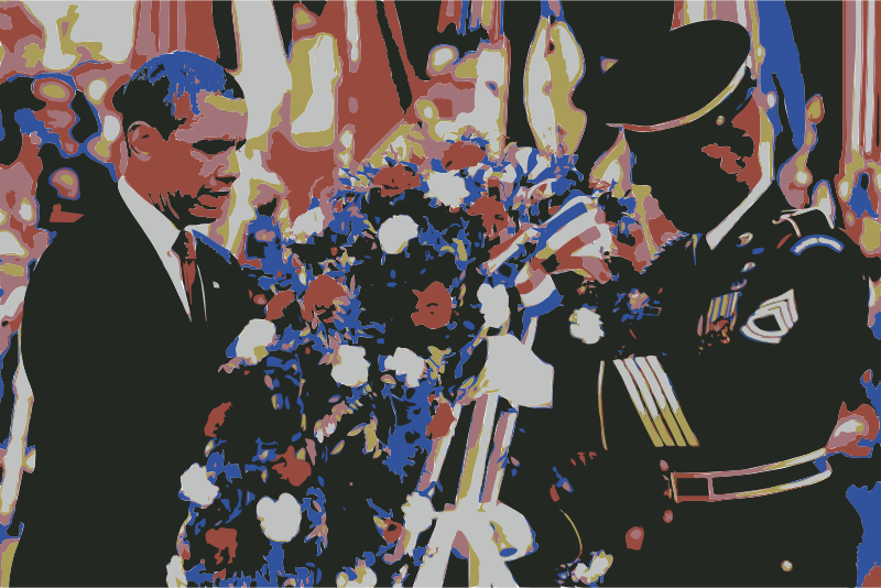 The U.S. Army and President Obama Wreath Laying by wanglizhong