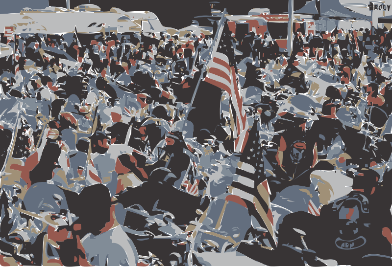 Clipart - Memorial Day Biker Parade