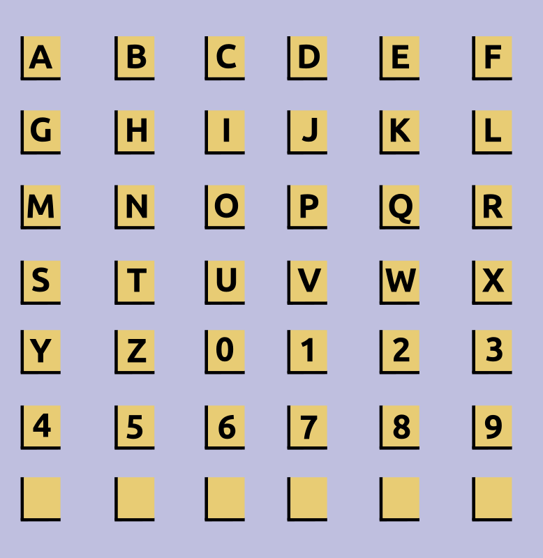 Alphanumeric Tiles by Woofer - Alphanumeric Scrabble tiles.